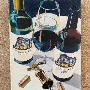 JMU red and white wine painting